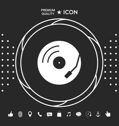 vinyl record turntable icon graphic elements for vector image