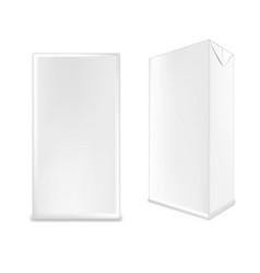 white carton box for milk or juice vector image