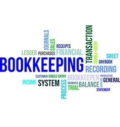 Word cloud bookkeeping vector
