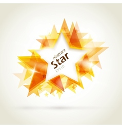 abstract golden star vector image vector image
