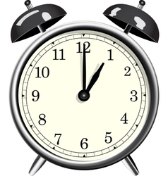 Classic alarm clock over white background vector image vector image