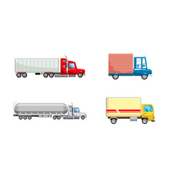 truck icon set cartoon style vector image