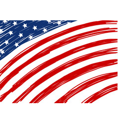 usa flag design vector image