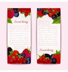 Berries banners vertical vector image vector image