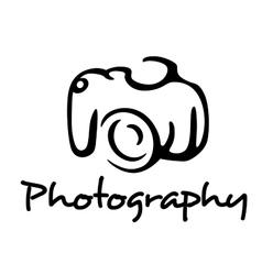Camera and photography emblem vector
