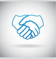 Handshake cooperation partnership icon symbol sign vector