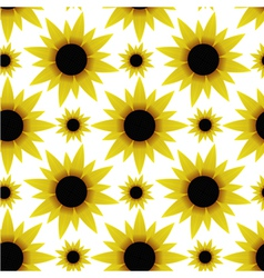 Seamless texture with sunflowers vector image vector image