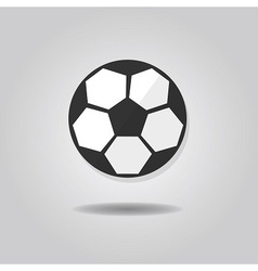 abstract single soccer ball icon vector image vector image