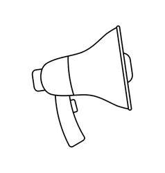 Bullhorn advertising symbol vector image vector image