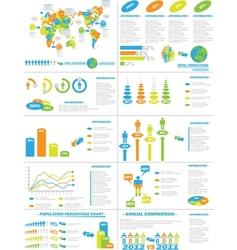 Infographic demographics web elements vector