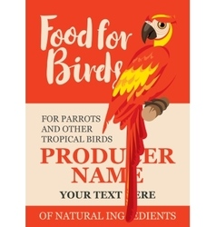 label feed tropical birds vector image vector image