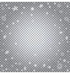 snowfall transparent backdrop vector image vector image