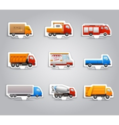 Truck paper stickers vector image