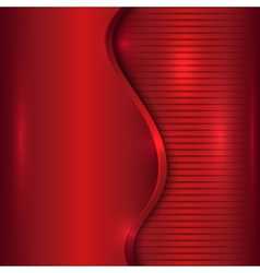 abstract red background with curve and stripes vector image
