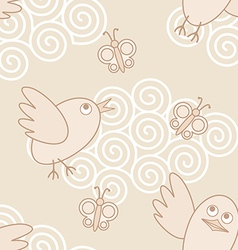 birds flying vector image vector image