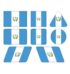 buttons with flag of Guatemala vector image