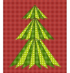 Christmas tree for scrapbooking 5 vector image vector image