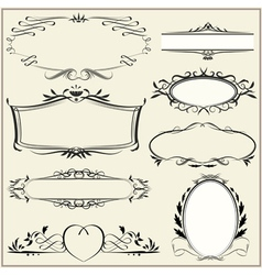ornamental and page decoration elements vector image vector image