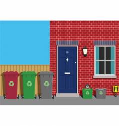 recycling collection day vector image vector image