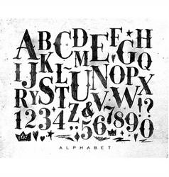 vintage gothic alphabet vector image