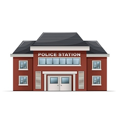 A police station building vector