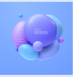 Abstract composition with 3d spheres cluster vector