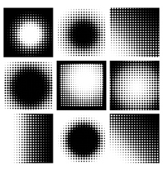 Abstract Halftone vector image