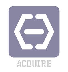 Acquire conceptual graphic icon vector