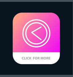 arrow interface left user mobile app button vector image