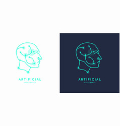 artifical intelligence conceptual sign and logo vector image