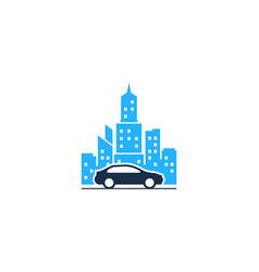 Automotive town logo icon design vector