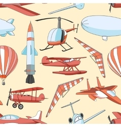 Aviation Icons Set pattern vector image