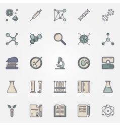 Biotechnology flat icons vector