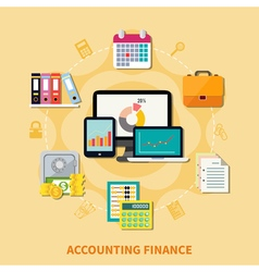 Business And Finance Design Concept vector image