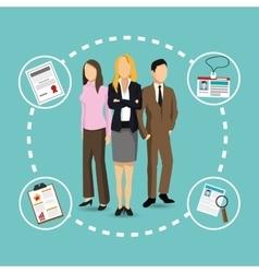 Businesswoman businessman resources icon vector