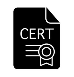 Certificate solid icon award vector