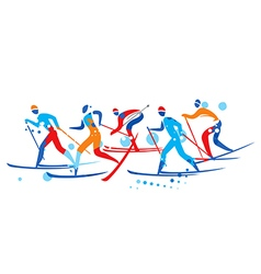 Crosscountry Skier competition vector