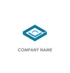 cube square 3d logo vector image