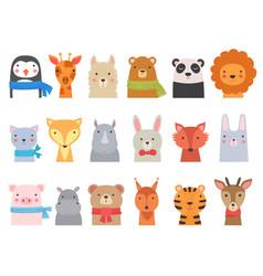 Cute baby animals children funny wild alphabet vector