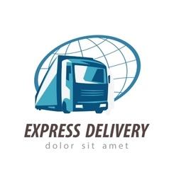 delivery logo design template transport vector image