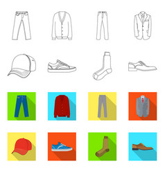 Design of man and clothing symbol vector
