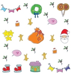Doodle of color ornament christmas vector