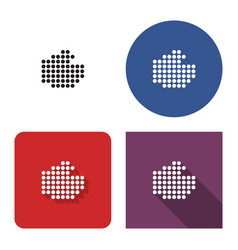 dotted icon fist in four variants with short vector image