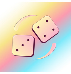 Dropping dices with three and four numbers vector