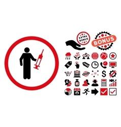 Drug Dealer Flat Icon with Bonus vector image