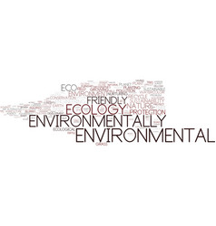 environmentally word cloud concept vector image