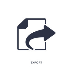 Export icon on white background simple element vector