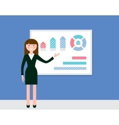 Female Speaker Giving Presentation vector