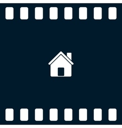 Flat paper cut style icon of house vector image