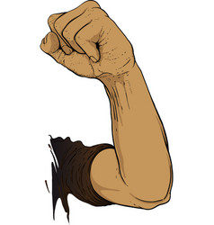 gesture raised fist vector image vector image